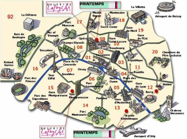 Mapa De Paris Centro.Onde Se Hospedar Em Paris Guia Das Melhores Areas E Bairros